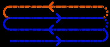 Таб, схема движения