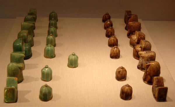 Персидский шатрандж, керамика