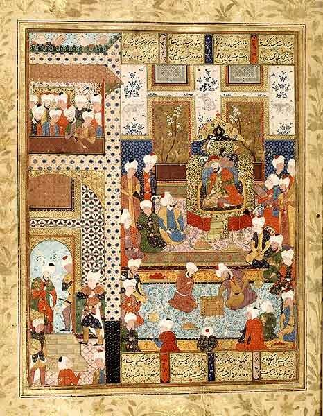Игра в шатрандж при дворе багдадских калифов