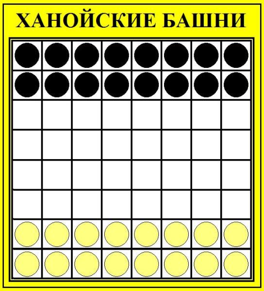У каждого игрока по 16 шашек.