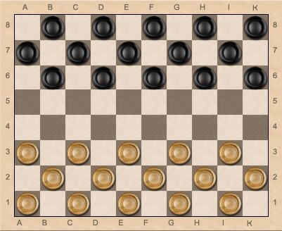 80-клеточные шашки - руссская нотация