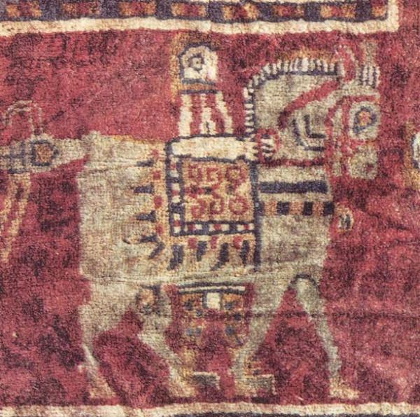 Пазырыкский ковёр, фрагмент - всадник