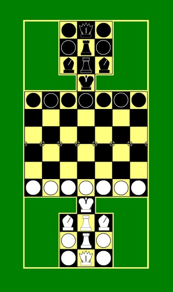 Алтай Шатра - по типу шахмат