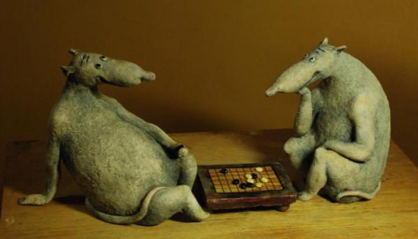 Крысы за игройв камешки