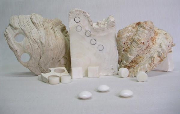 Изготовление камней из раковины