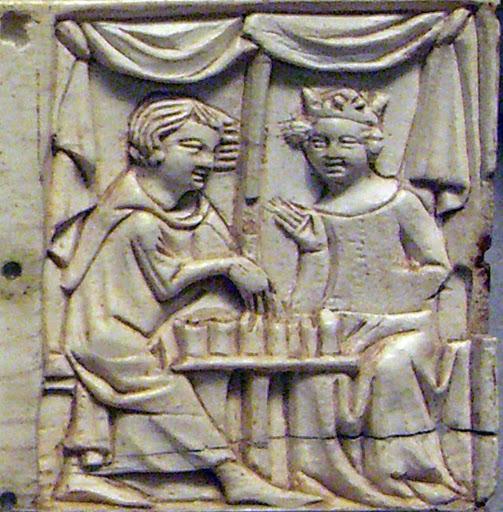 Деталь шкатулки, кость, резьба 1340-1350, Париж, Лувр