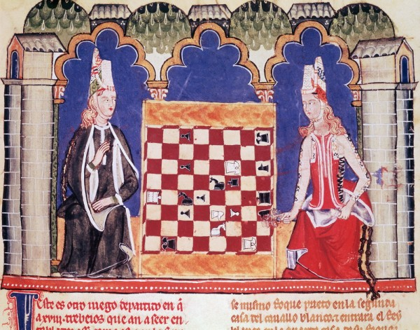 Illustration_Two_Ladies_Playing_Chess_Playing_Chess_Recreation_activities_Females_Figurative_art_b