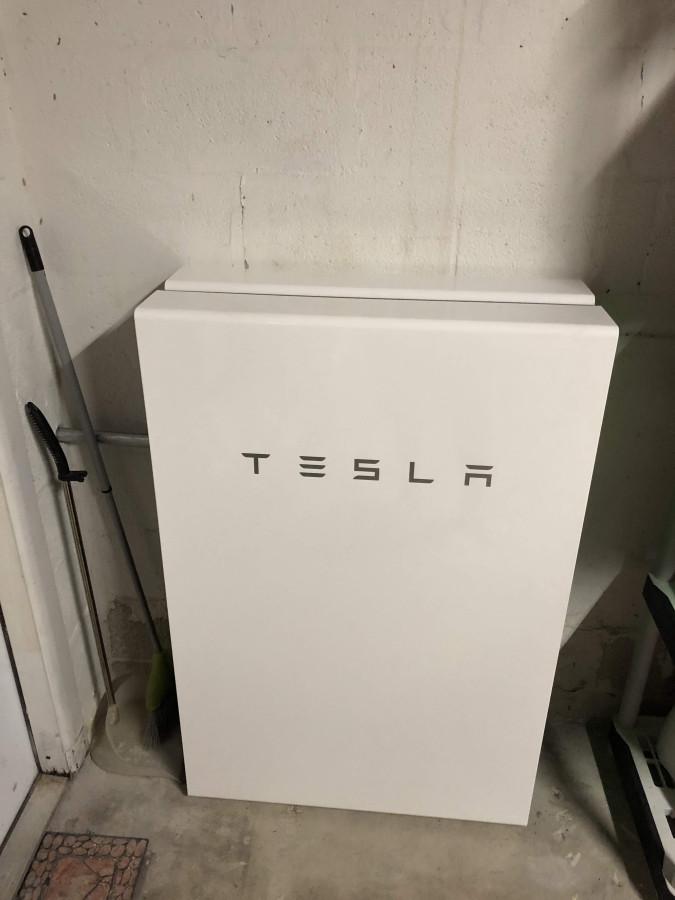 Установка батарей Tesla Powerwall