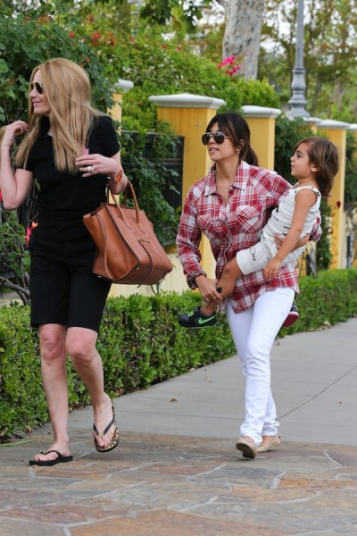 Kourtney-Kardashian-Red-Plaid-Shirt-20
