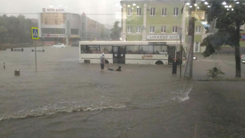 потоп в Липецке -19 июня 2016