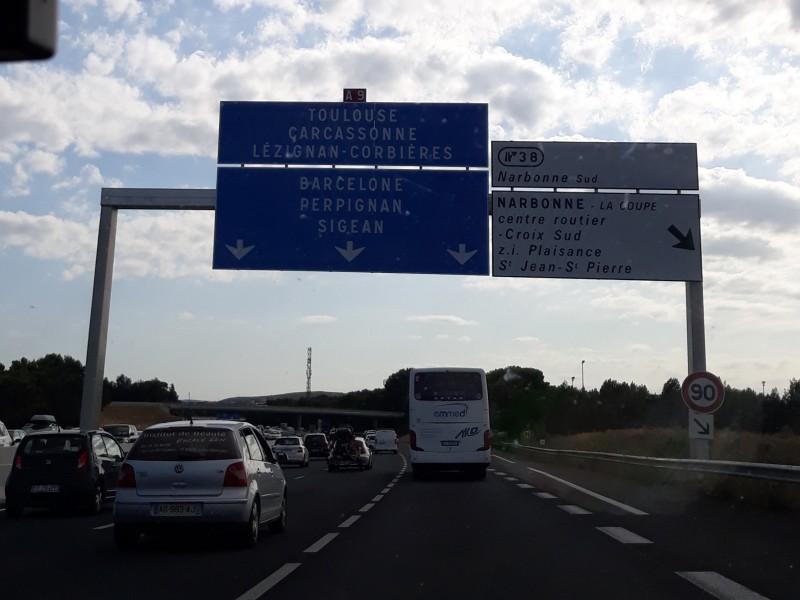 Загруженность дорог Франции.