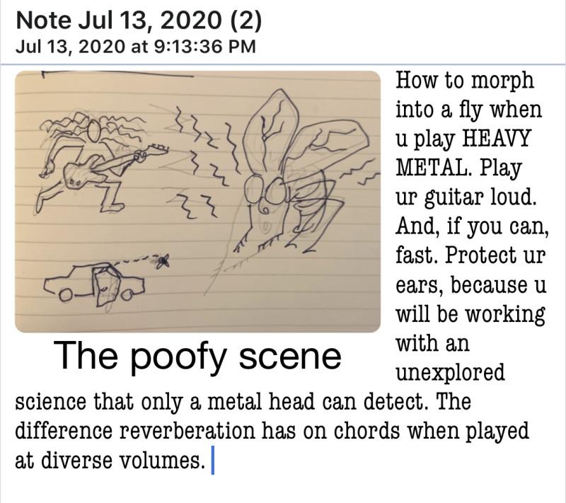the poofy scene