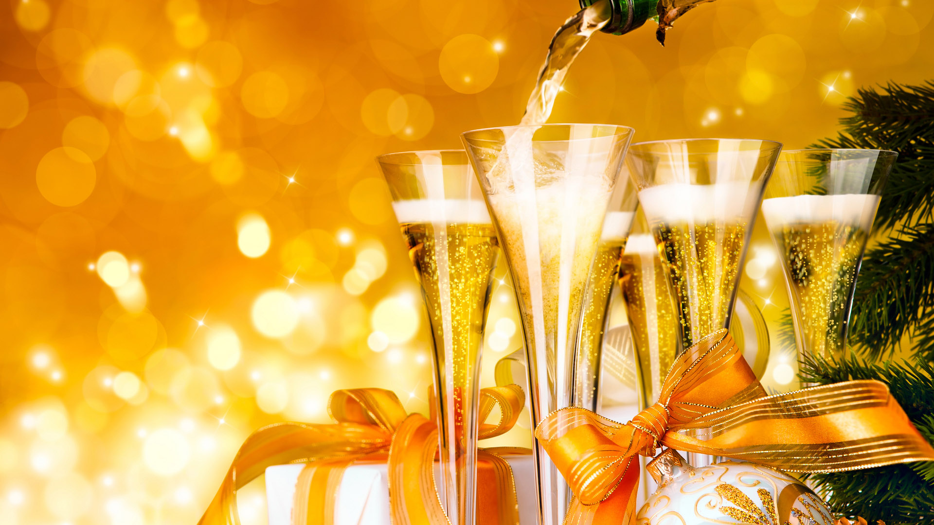 новый год, фужеры, шампанское, без регистрации