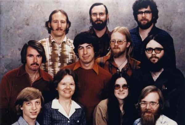 Сотрудники Microsoft, 7 декабря 1978 года.