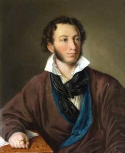 А.С. Пушкин. 1827 год (копия А.П. Елагиной с портрета  В.А Тропинина)