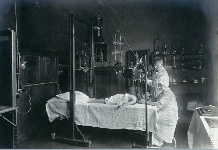 ребенку делают рентген