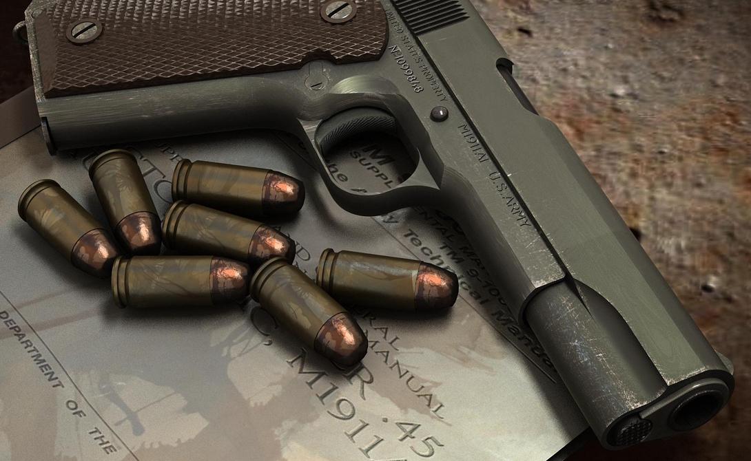 Colt M1911 — конструктивно простой, идеальный в боевых условиях пистолет