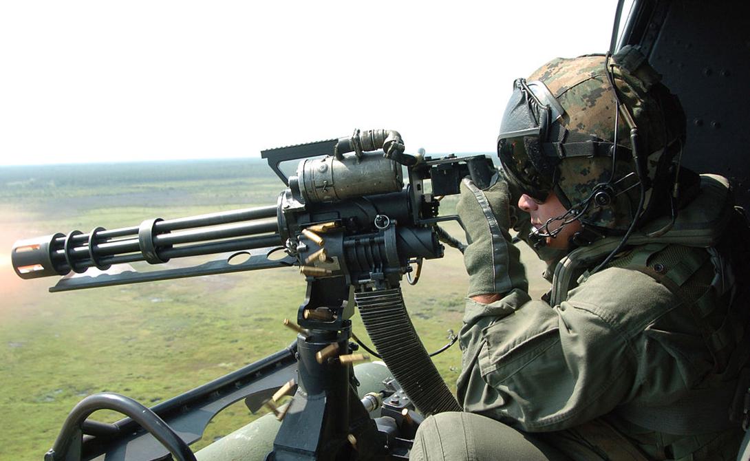 Авиационный пулемет M134 Minigun калибра 7,62 мм