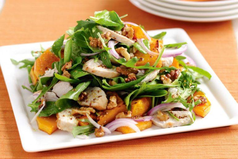 Салат из тыквы с курицей