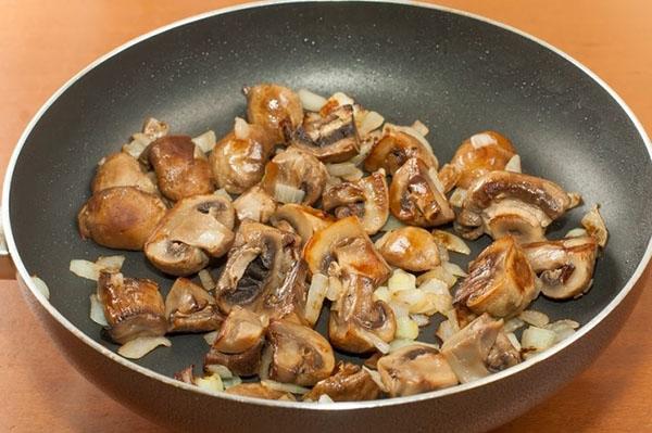 прожарка грибов с луком