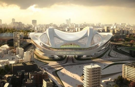 Новый стадион в Токио в форе ската