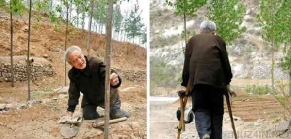 Человек с ампутацией обеих ног превратил бесплодные холмы в пышный лес