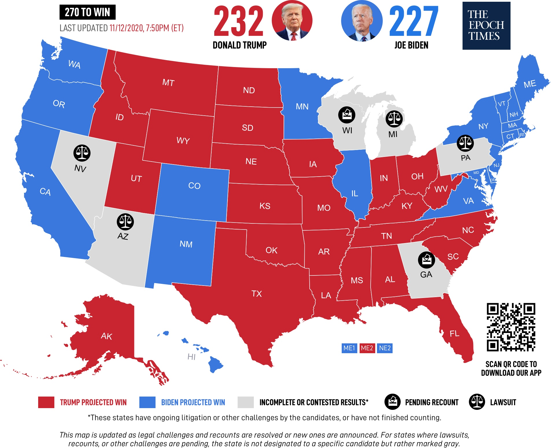 Ситуация по выборам в США сейчас выглядит как-то так