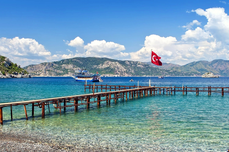 Картинка моря и пляжа турции