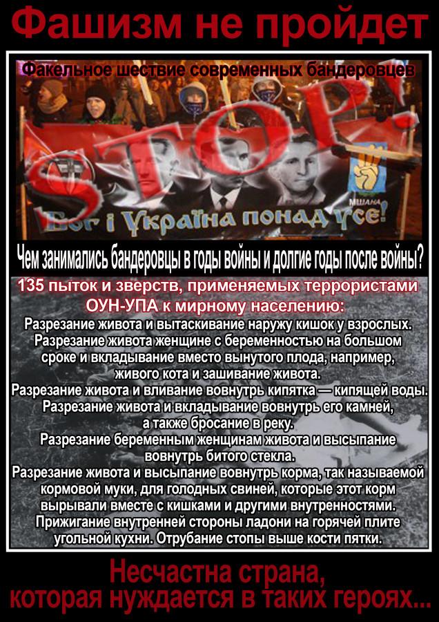 стоп фашизм, список пыток