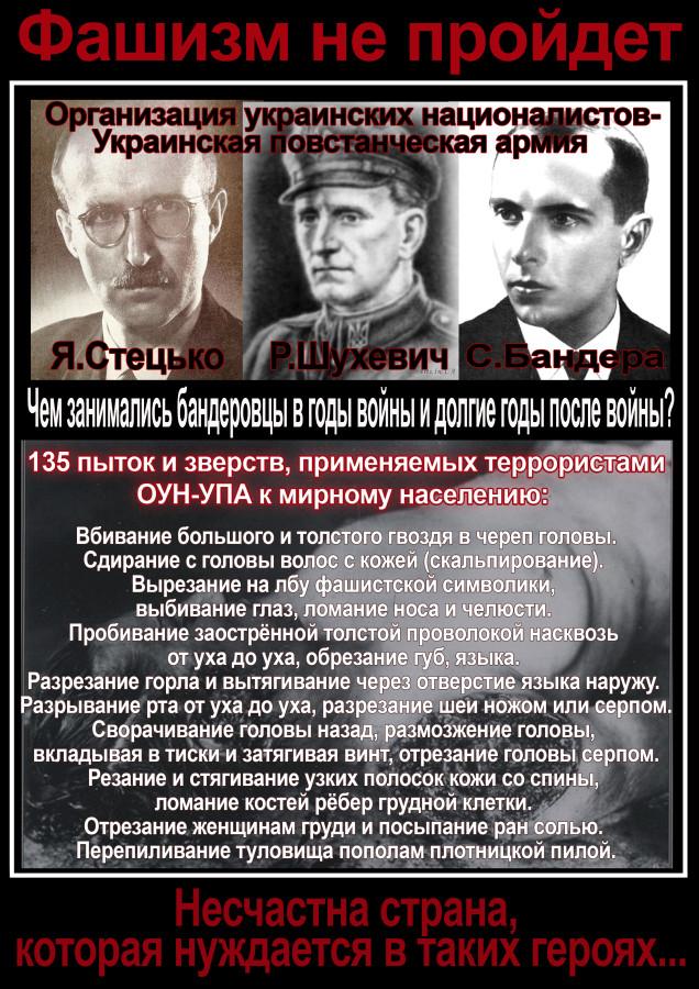 фашизм, шухевич, бандера, стецько, пытки