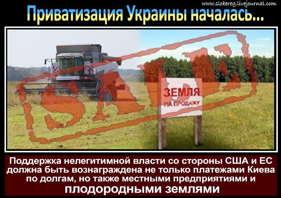 Распродажа Украины приватизация плодородные земли