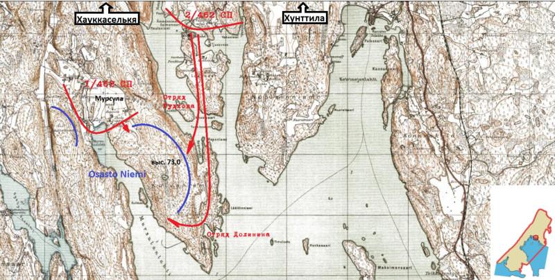 Схема боя в ночь на 17 декабря.