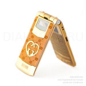 Телефон Gucci G-6 Honey Leather Gold