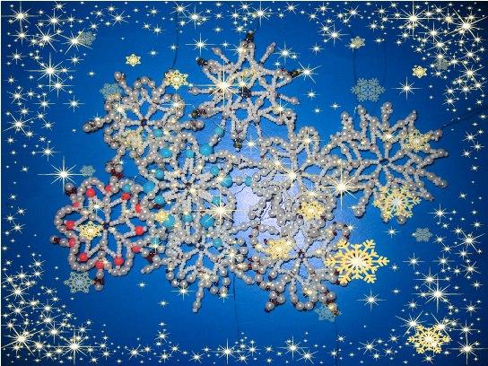 Волшебные снежинки своими руками