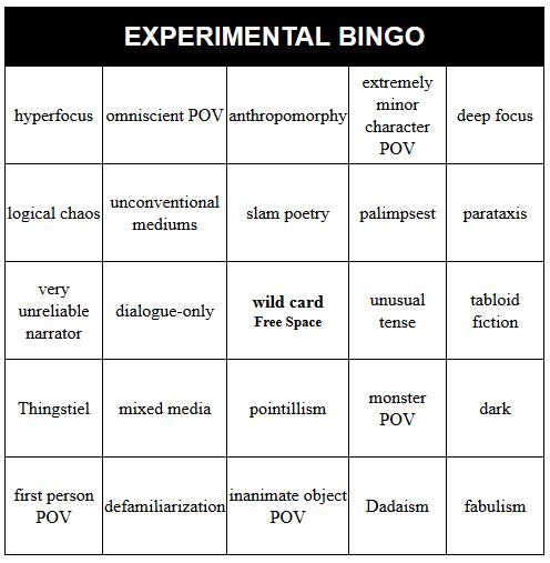 spnexperimentalbingocard