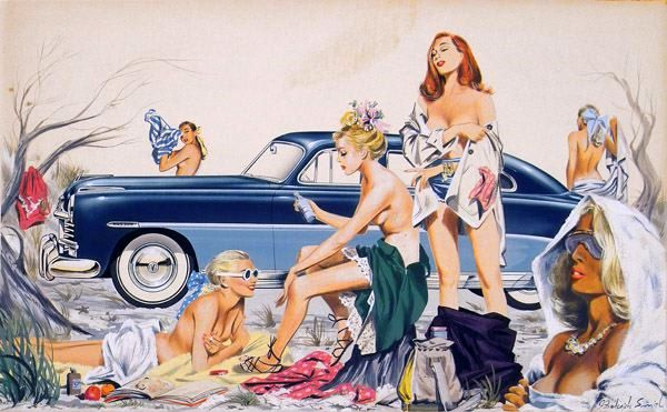 hudson-car-surrounded-by-six-young-women-undressing