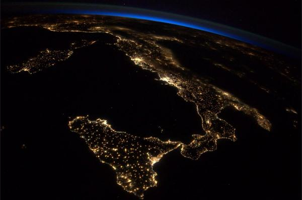 Italy from ISS