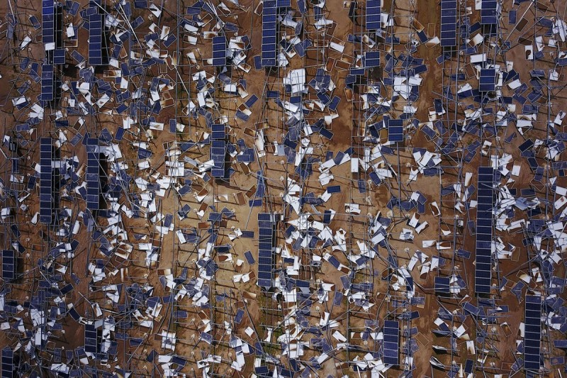 Солнечные батареи после урагана