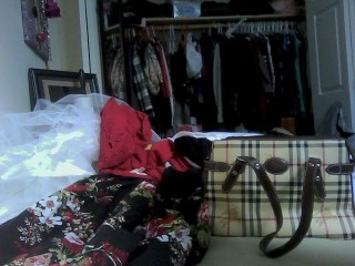 Getting ready in the morning! Heap of clothes xD