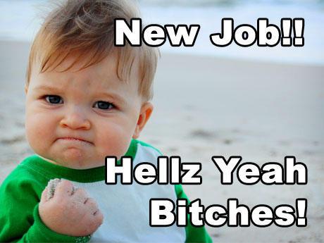 landed new job