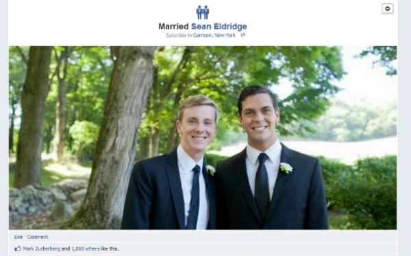 Фейсбук добавил иконку для однополых браков