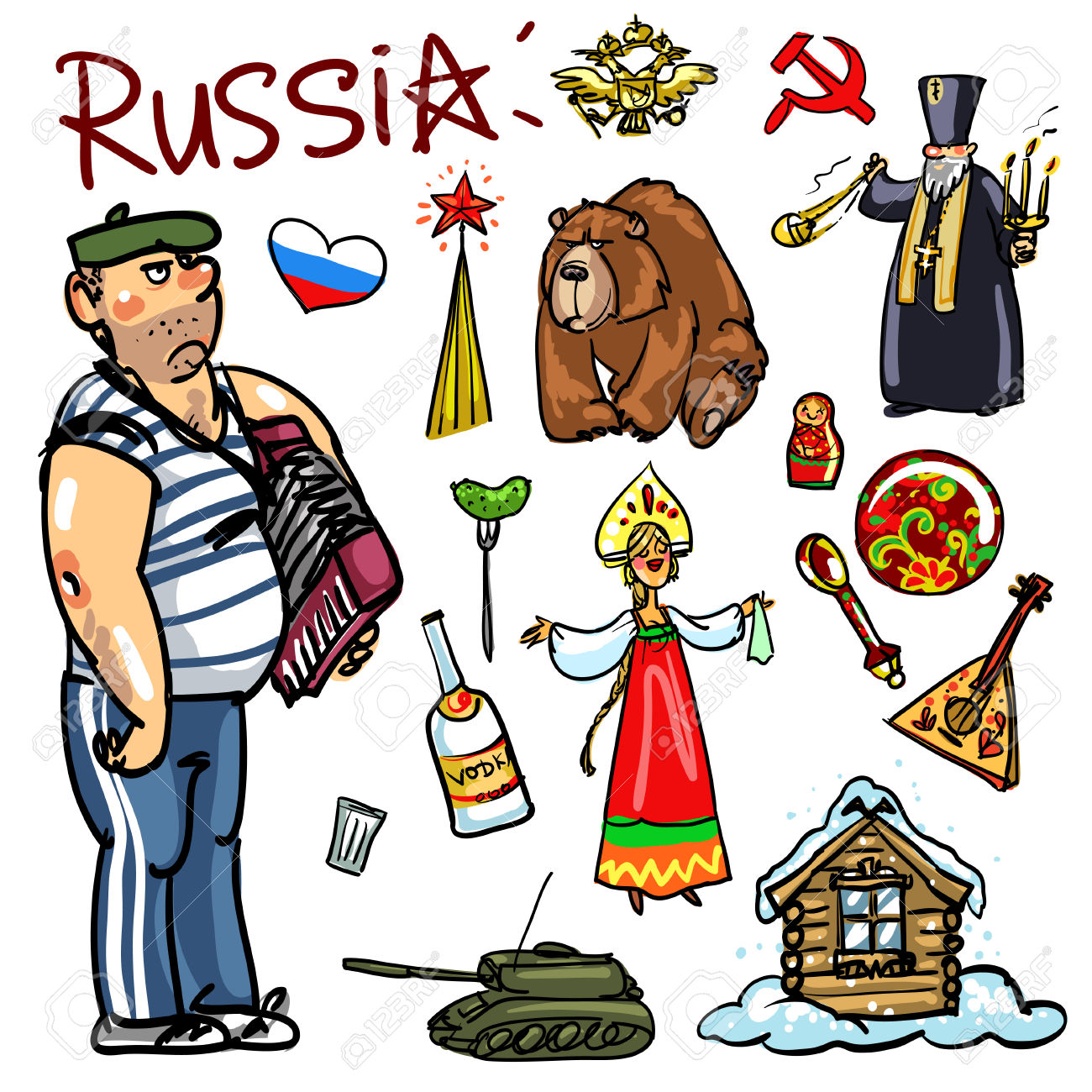 44411818-Set-of-cartoon-hand-drawn-travelling-attractions-Russia-Stock-Vector.jpg