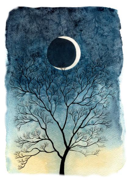 дерево і місяць