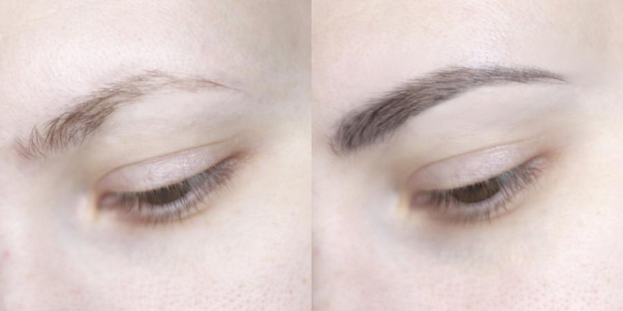 Новинка - Missha, Perfect, стайлер для бровей, серый (фото на бровях)
