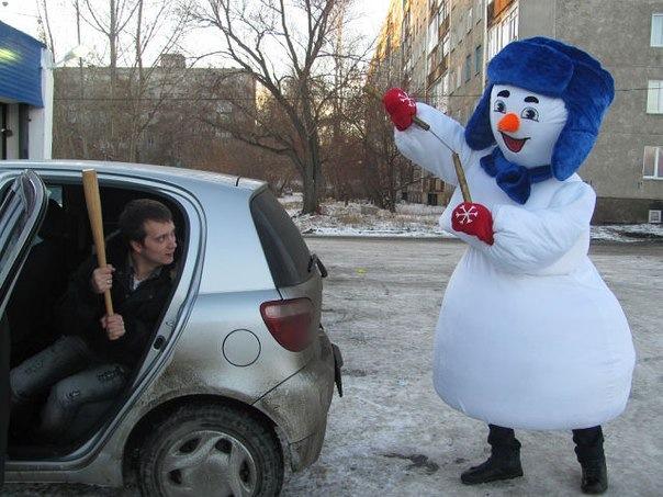 снеговик + Робин