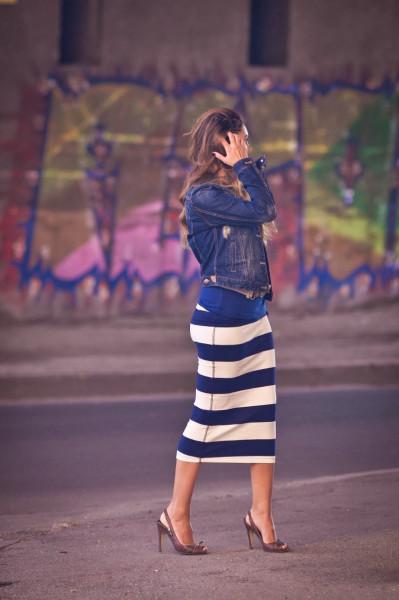 Полосатое платье zara