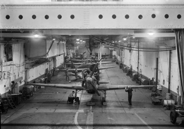 Aircraft_in_hangar_of_HMS_Argus_(I49)_c1942