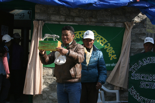 Snow leopard award at Everest