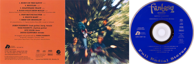 Creedence Clearwater Revival. Fantasy. DSD Super Audio