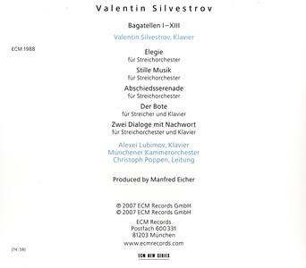 Валентин Сильвестров. Багатели и серенады. Valentin Silvestrov. Bagatellen und Serenaden